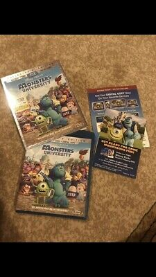 MONSTERS UNIVERSITY (Blu-Ray/DVD/ 2013) 3-DISC COLLECTOR'S w/SLIPCOVER