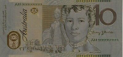 Australia Collectibles 24k Gold Plated Foil Banknote 10 Ten Dollars
