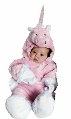 Underwraps Baby Pink Unicorn Costume Size Small Soft and Fluffy 6-12 Months