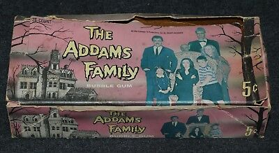 Addams Family 1964 5 Cent Gum Donruss Non-Sport Trading Cards Display Box