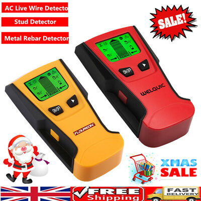 3 In 1 Wood Wall Stud Center Finder Scanner Metal AC Live Wire Detector Auto Off