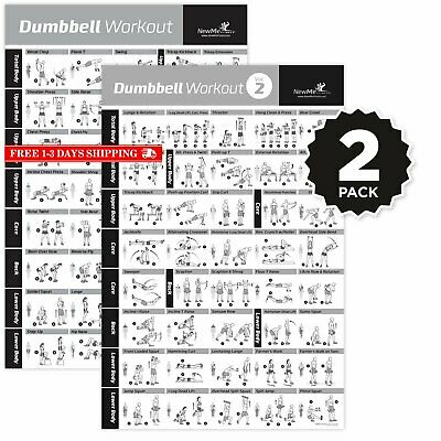 NEWME FITNESS DUMBBELL Workout Exercise Poster - Now