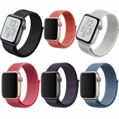 Hook and Loop Woven Nylon Strap Watch Band  For Apple Watch Series 1/2/3/4