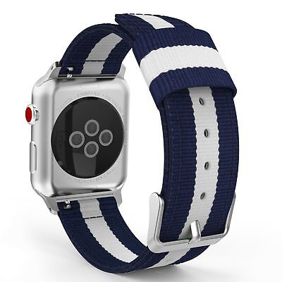 Woven Nylon Sports Strap Band For Apple Watch iWatch Serie 4 40/44mm