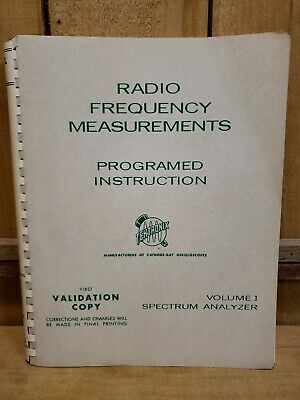 1964 Tektronix Radio Frequency Measurements Programed Instruction Volume 1