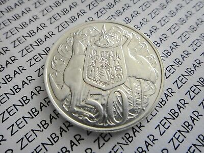 AUSTRALIAN 1966  50c Cent Round Decimal Silver Coin - 80% Silver (1) One Coin #a