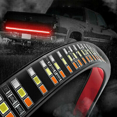"Upgraded 60"" Triple Row LED Tailgate Light Bar Flowing Turn Reverse Truck Light"