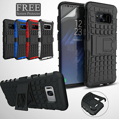 Hybrid Armour Hard Case Cover For Samsung Galaxy S9 S8 Plus + Screen Protector