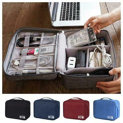 Electronics Accessories Organizer Travel Storage Hand Bag Cable USB C Drive C9Q0