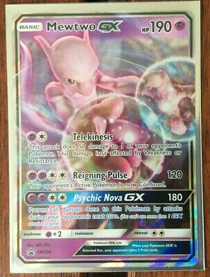 Pokemon Card   MEWTWO GX   Ultra Rare SM196  SUN and MOON  PROMO *MINT*
