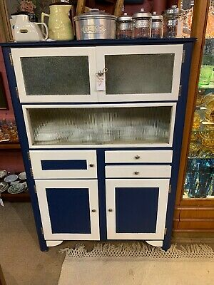 Claude Robert Ogden - Art Deco Blue & Cream Kitchen Cabinet - Stunning!!