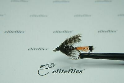 Eliteflies 6 x Competition dabbler fly fishing wet flies lures lake trout brown