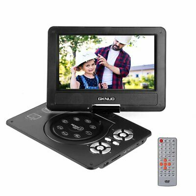 9 in Portable DVD Player USB SD TV In Car 270 Degree Swivel Screen Rechargeable