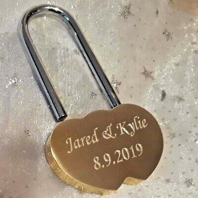 Personalised Solid Brass Large Padlock. Engraved 60mm . Lock your Love Bridge!