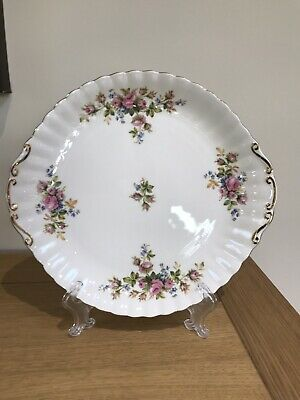 Royal Albert Moss Rose Cake Plate - Excellent Condition