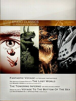 Dvd- Fantastic Voyage + Lost World + Towering Inferno + Voyage To Bottom Of Sea