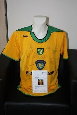 Norwich City Trikot, Teamsigniert, England, M