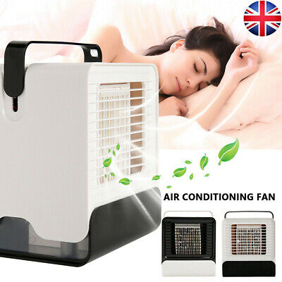 Mini Air Conditioning Fan Portable Conditioner Unit Low Noise Home Office Cooler