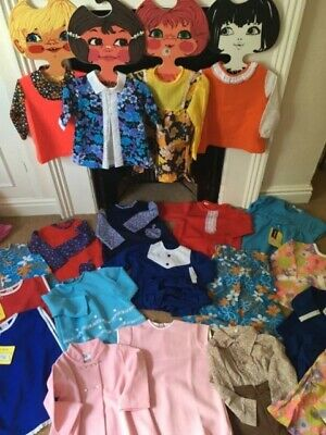 Old shop stock lot vintage 50's 60's 70's Children's baby clothes dress age 0-2
