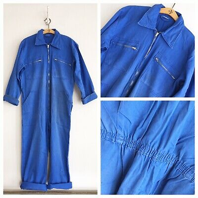 Vintage 1960s French Cotton Chore Workwear Overalls Coveralls Boiler Suit M/ ML