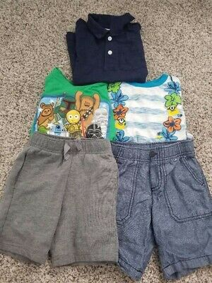 Toddler Boy Size 4T Lot Minion Star Wars Gymboree Short Shirt Lot