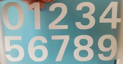 Seat Chair Numbers Convention Meeting Business Signs Decals White Gloss/Any Std