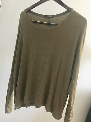 b7f8c947a2c Brandy Melville Womens One Size Long Sleeve V-Neck Hi-Low Flowy Top Gray