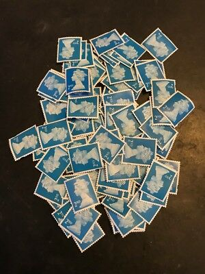 100 x 2nd Class Royal Mail Unfranked Stamps,No Gum ,Off Paper ,FV £61.00, lot 1