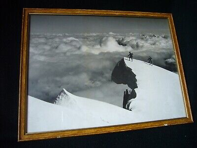TAIRRAZ GRANDE PHOTOGRAPHIE ALPINE ANCIENNE AUTHENTIQUE 1950 ALPINISME 29X39 cm