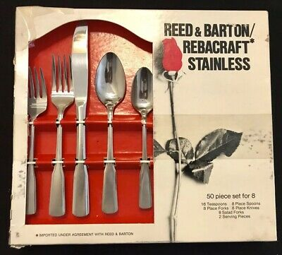 STAINLESS Salad Fork 568253 Reed /& Barton COLONIAL SHELL