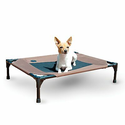 Pet Cooling Cot Elevated Bed Dog Cat Indoor Outdoor Pad Kennel Medium BrownandMe