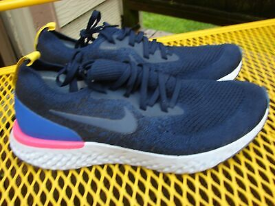 8919fc1182f97 MENS NIKE EPIC React Flyknit College Navy AQ0067-400 Size 9 - $43.00 ...
