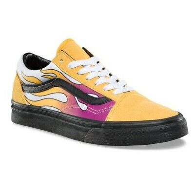 83d0670a0a9 Vans old skool flame yellow sneaker shoes banana men size 4 / woman size 5.5