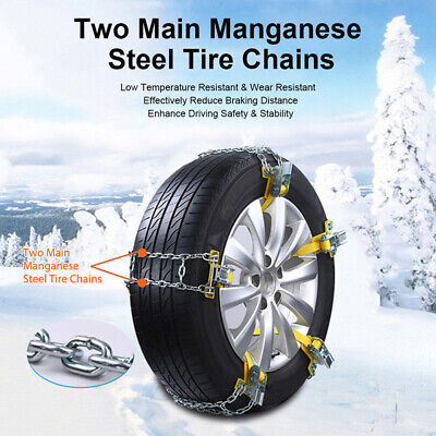 Anti Skid Tire Chain Universal Car Truck For SUV Mud Wearable Metal Assembly