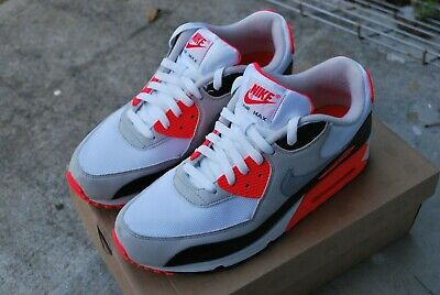 06 NIKE AIR Max 90 CLASSIC WHITE CEMENT GREY INFRARED BLACK