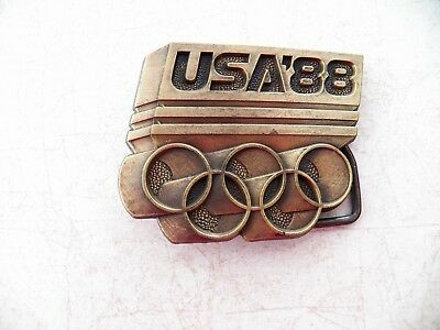 Belt Buckle -Olympics Usa '88 W 5 Rings