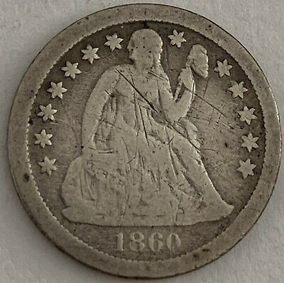 1860-S 10c Liberty Seated Silver Dime Resumed