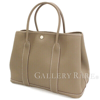 19d48f55e70a4 HERMES Garden Party PM Veau Negonda Etoupe Tote Bag France  X Authentic  5415120