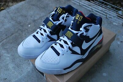 37e4e35d5d Used Air Force 180 White/Mid Navy Olympic Barkley 310095-100 Size 10.5