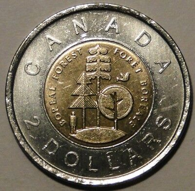 Canada 2011 $2 dollar Borel Forest Nature Legendary toonie coin nice circulated