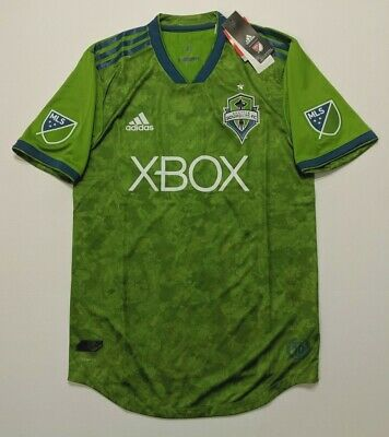 aa9fb16c5 NWT Adidas Seattle Sounders FC 2017 Primary Authentic Jersey Rave Green Sz  Small
