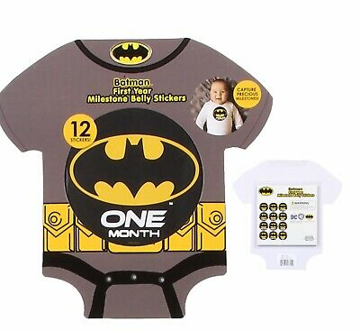 Cute and Funky BATMAN First Year Milestone Belly Stickers