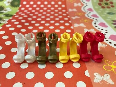 Doll Shoes ~ 4PAIRS Mattel Barbie High Heel Sandal Shoes #S2230 Model Muse Doll