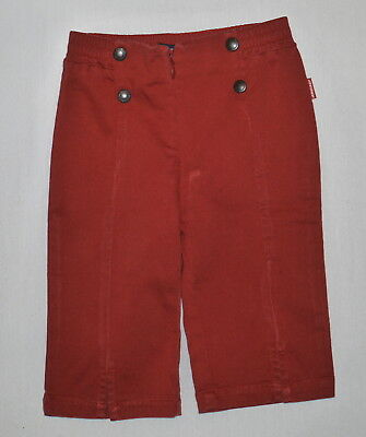 Jean Bourget Girls Red Crops Age 3 (2-3) EUC