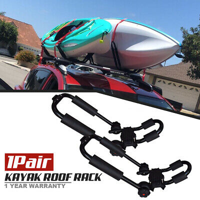 Pair Universal Roof JBar For Kayak Boat Canoe Car SUV Top Mount Carrier New