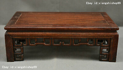 Collect China HuangHuaLi Wood handcrafted Tea Kang Table Desk Secretaire Statue