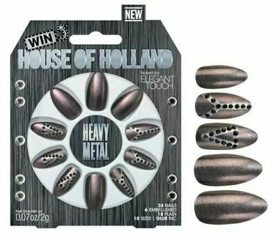 HOUSE OF HOLLAND False Nails - Heavy Metal (10 Sizes - 24 Nails)