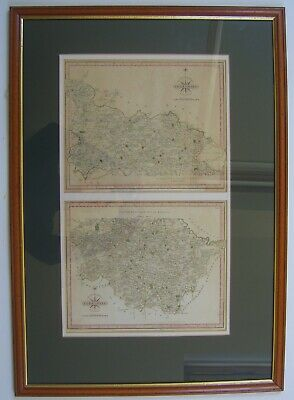 Yorkshire West Riding: antique map by John Cary, 1787