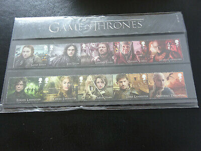 Game of Thrones (Pack No 551) Presentation pack 23.01.2018. Inc mini sheet - MNH