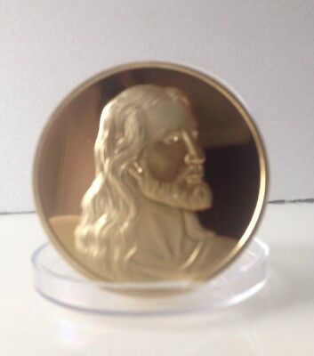 24k Gold on the last  support  Jesus with his disciple coin